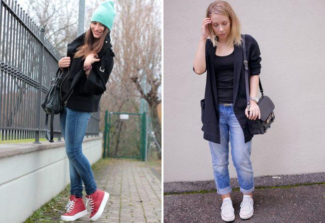 кеды и джинсы