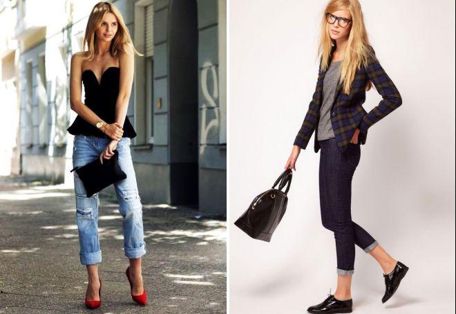 джинсы с туфлями