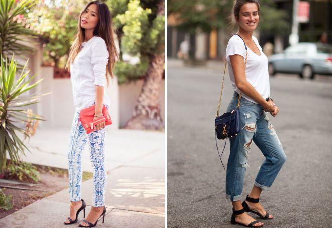 босоножки под джинсы
