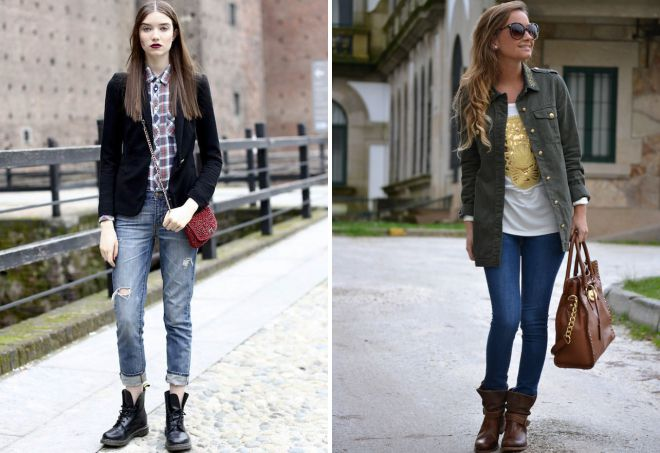 джинсы с ботинками