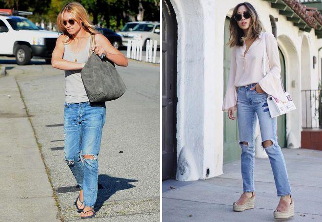 модная обувь под джинсы 2018