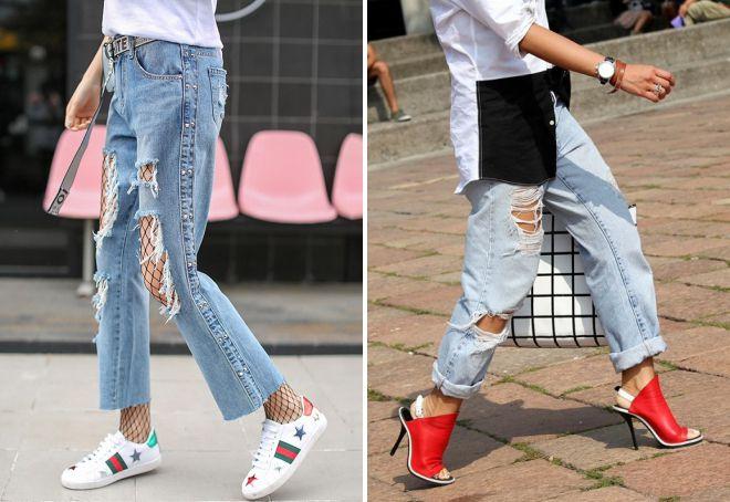 какую обувь носить с джинсами женщинам