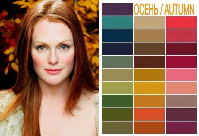 цветотип осень цвета в одежде
