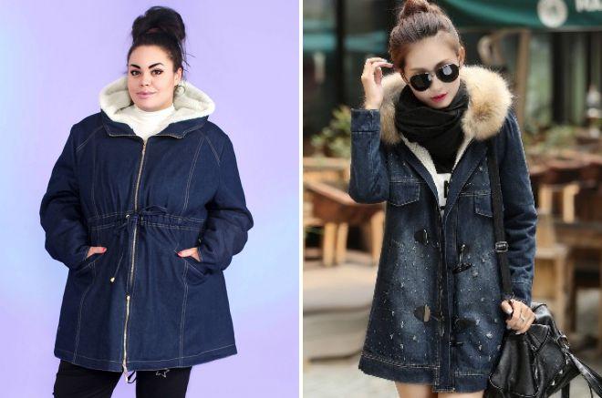 стильные зимние куртки с капюшоном