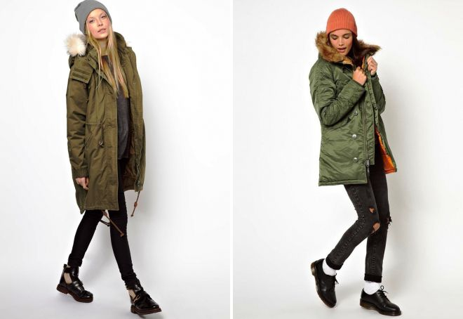 зимняя куртка с капюшоном с чем носить