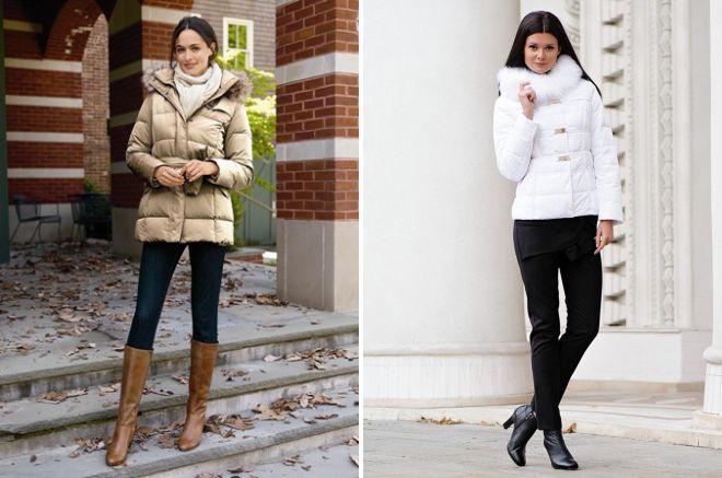 короткая женская зимняя куртка с капюшоном