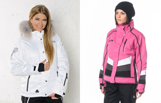 женская зимняя спортивная куртка с капюшоном