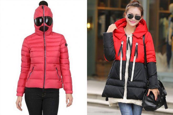 женские куртки на синтепоне с капюшоном