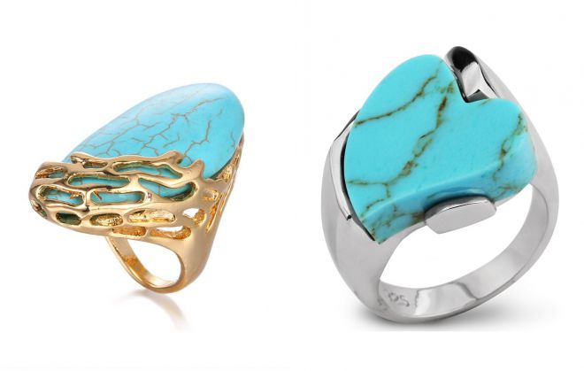 кольцо перстень с бирюзой