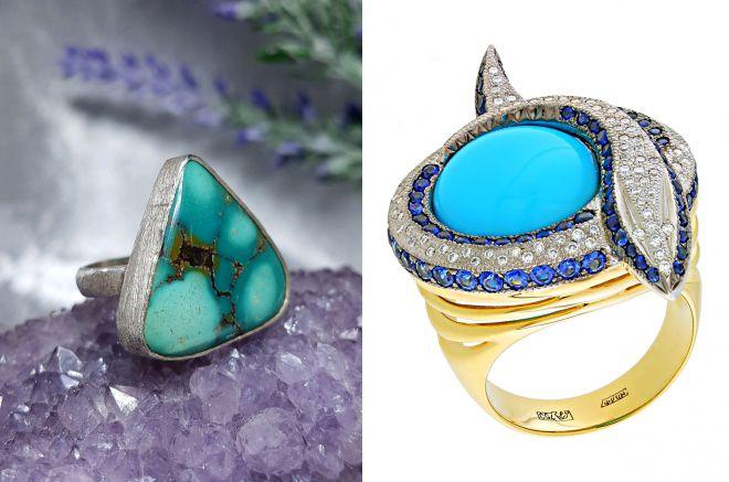 сколько стоит кольцо с бирюзой