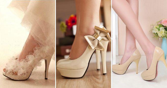 туфли цвета слоновой кости