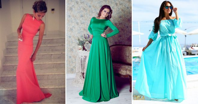 5c2483da4c0 Модные длинные платья в пол – вечерние и повседневные