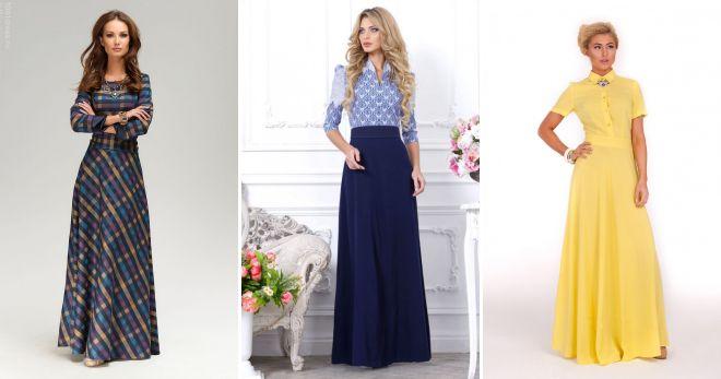 26f47cae3c6670a Модные длинные платья в пол – вечерние и повседневные, с длинным ...