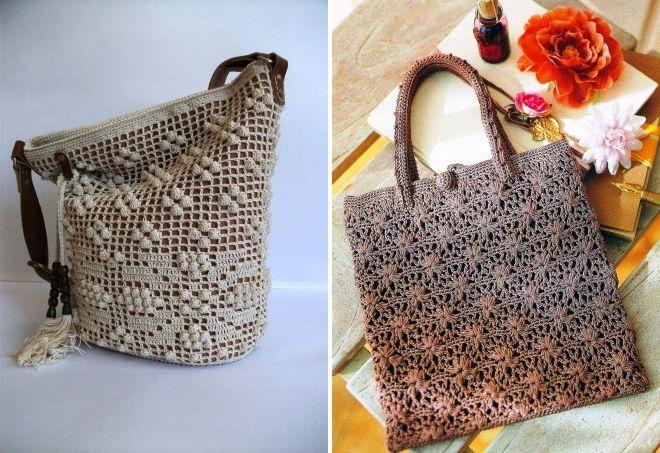 сумка торба из трикотажной пряжи