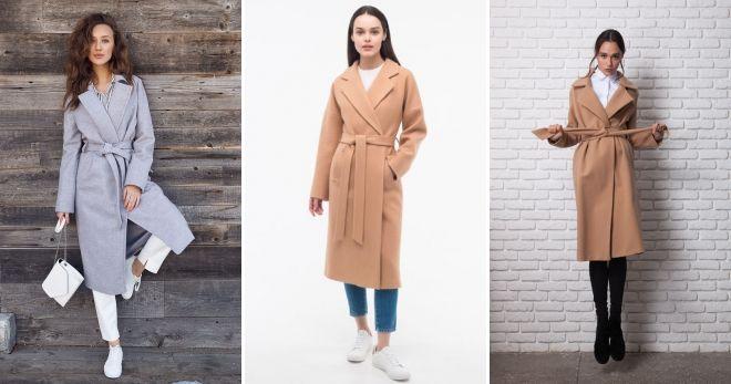 Пальто-халат с кедами