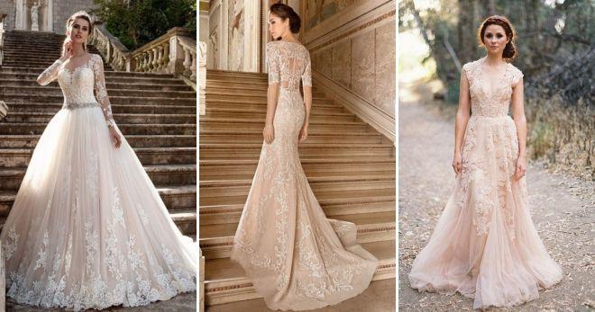 af90439e515 шампань   Модные цвета свадебных платьев 2019 шампань