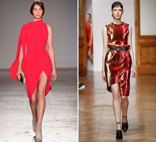 красное платье 2017