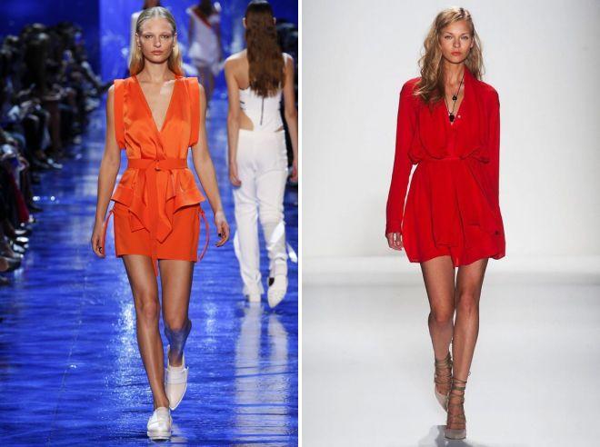 красное платье рубашка