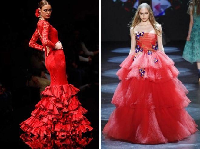 красные пышне платья