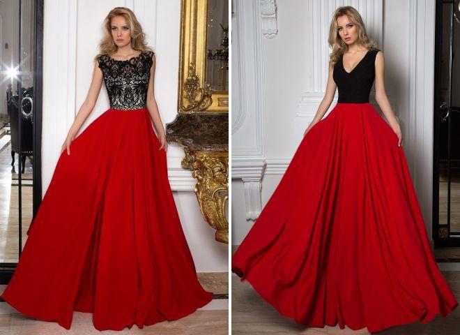 красные пышные платья