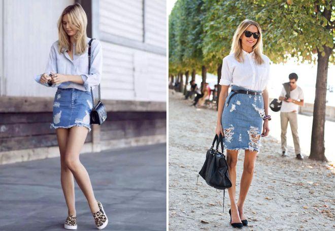 джинсовые короткие юбки