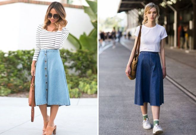 джинсовая юбка на резинке