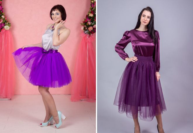 a8b17d4bb6d Модная фиолетовая юбка – длинная в пол