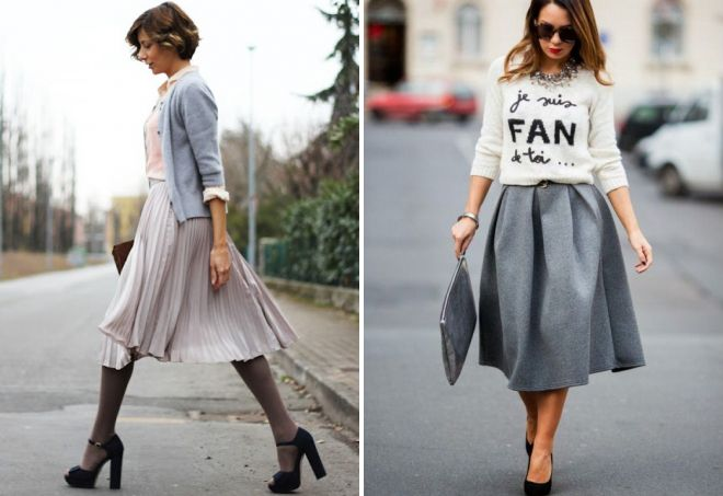 юбки серого цвета