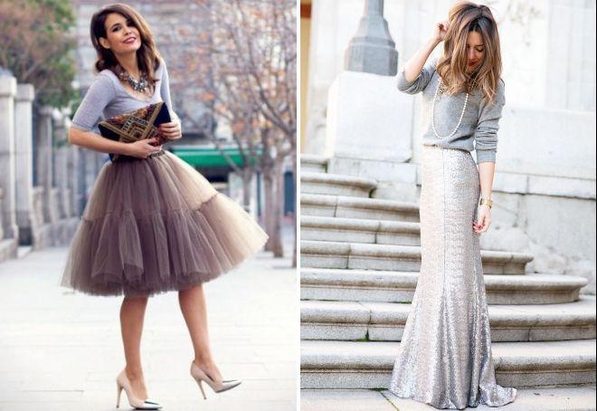 стильная серая юбка