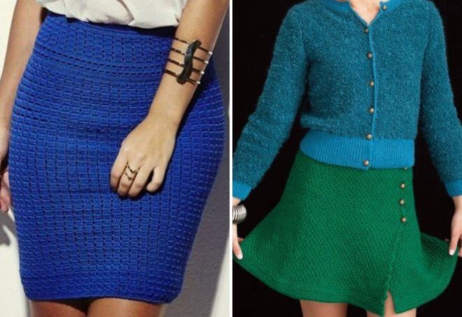 модные вязаные юбки