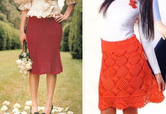стильная вязаная юбка