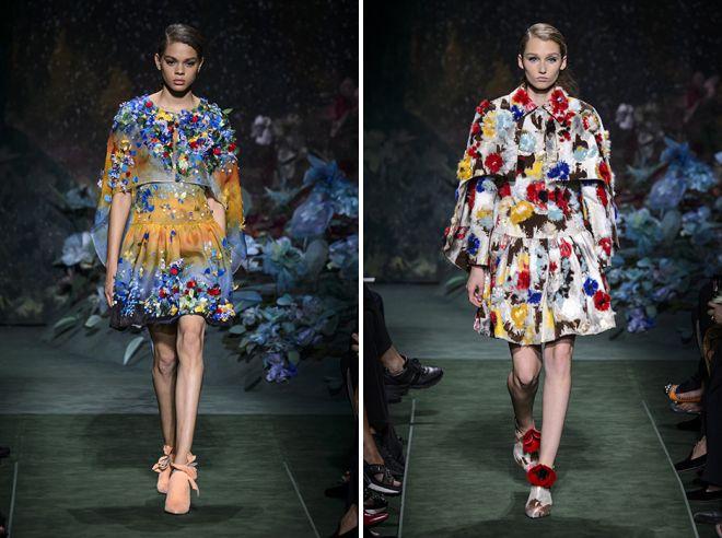 пышные юбки с цветочным принтом