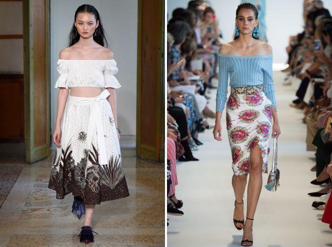 модные юбки с цветочным принтом
