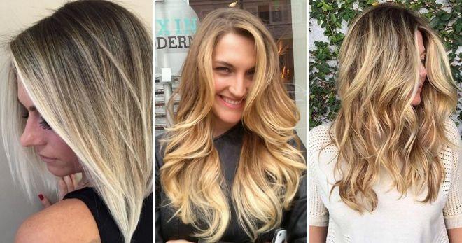 Окраска волос балаяж идеи