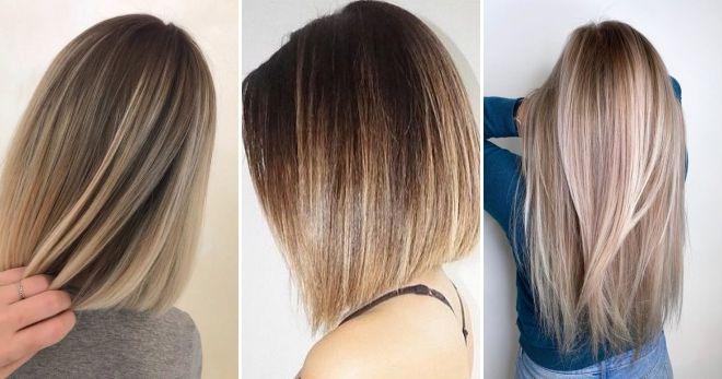 Балаяж на прямых волосах стиль