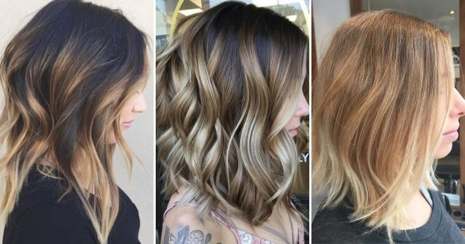 Модное окрашивание волос балаяж идеи