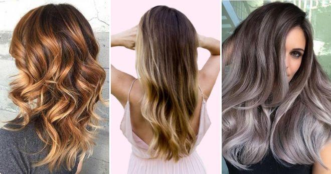 Модное окрашивание волос балаяж стиль