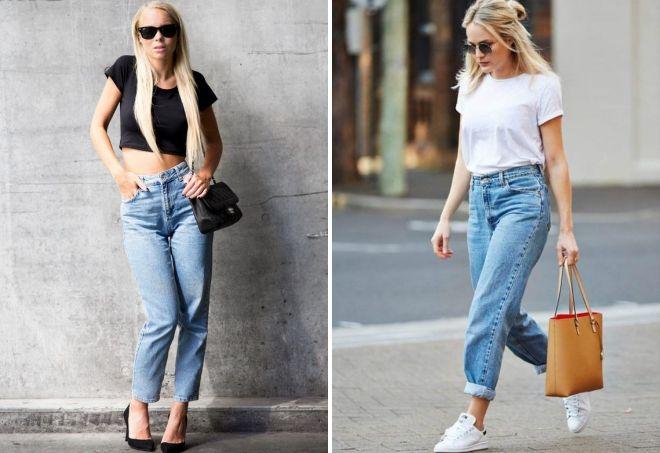 amerikanske jeans med t-skjorte