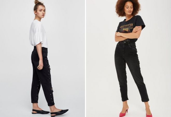 svart amerikansk jeans