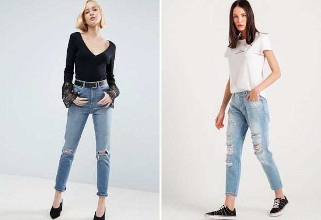 Jeans américains dans la mode de la rue
