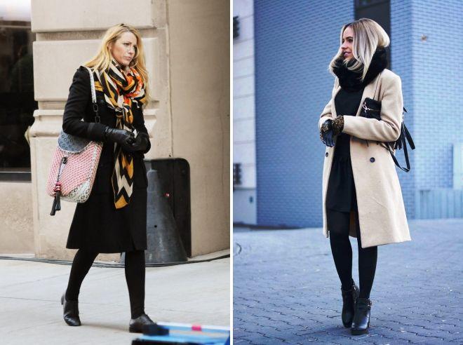 как носить палантин с классическим пальто