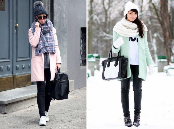 как носить палантин с пальто и шапкой