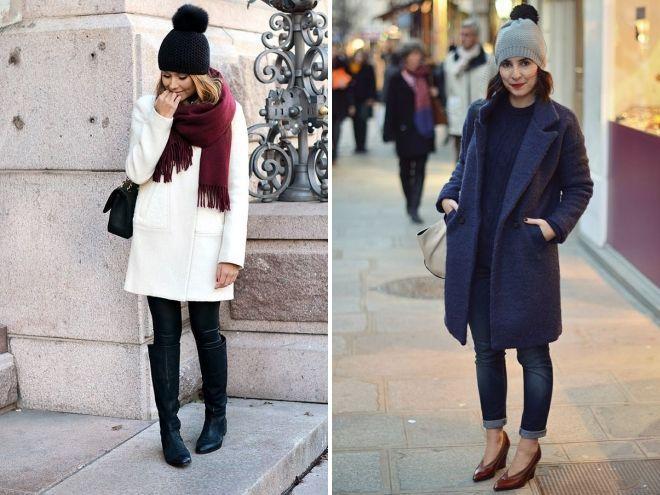 manteau et chapeau avec pompon