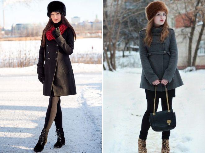 chapeau de fourrure avec manteau