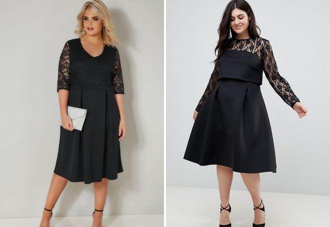 gaun hitam kombo