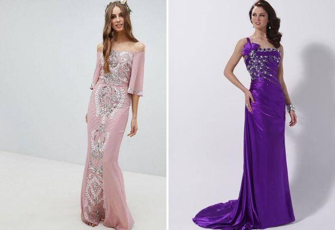 vestido de noche combinado