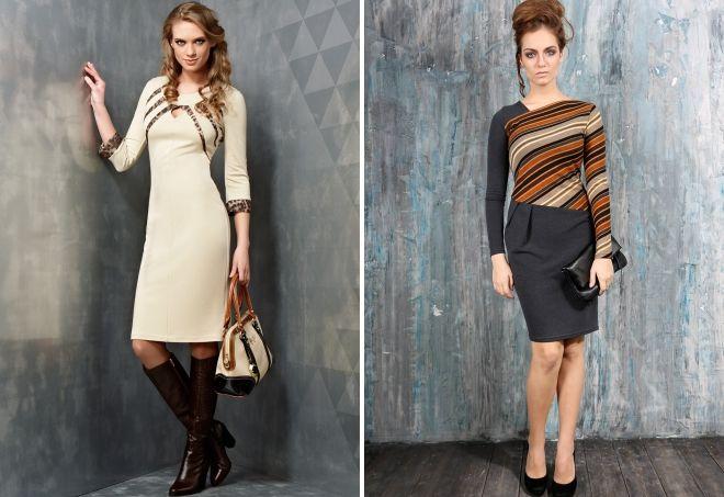 vestido de combinación de dos tonos