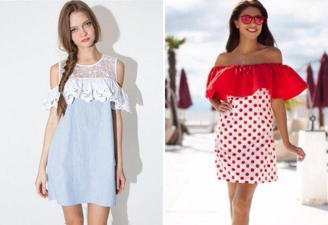 af5d98e729fa876 Красивые комбинированные платья – трикотажное, с гипюром, шифоном ...