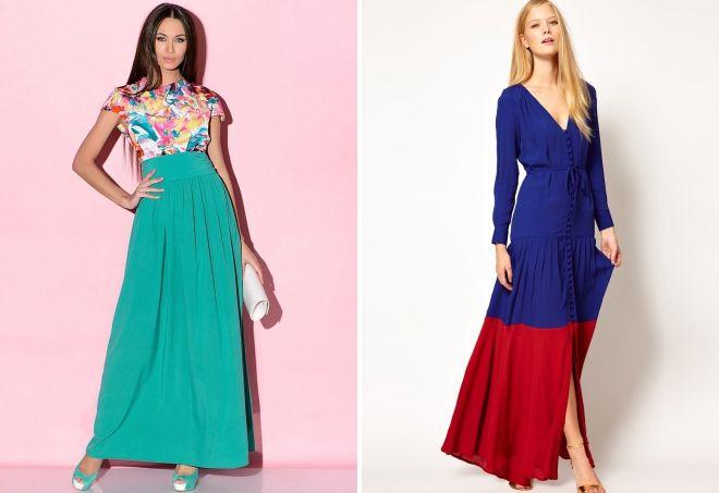 vestidos combinados para mujer
