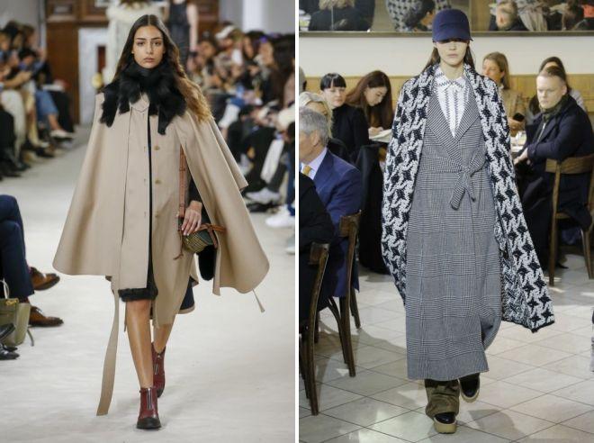 мода пальто зима 2019